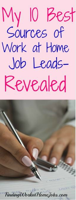10 Best Sites to Find Work at Home Job Leads