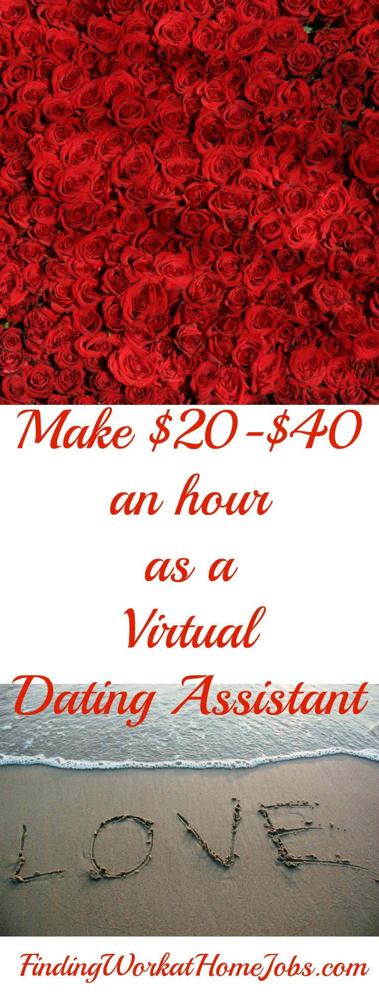 Make $20-$40 an hour as a Virtual Dating Assistant