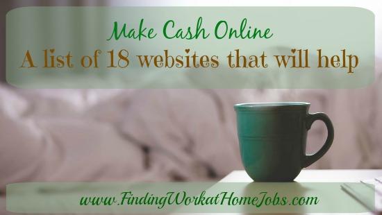 Make Cash online: 18 sites that will help