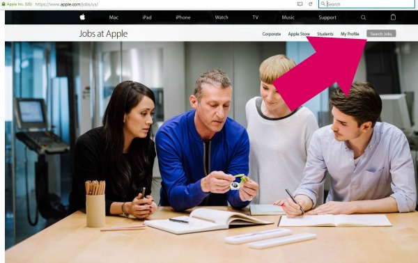 search jobs at apple