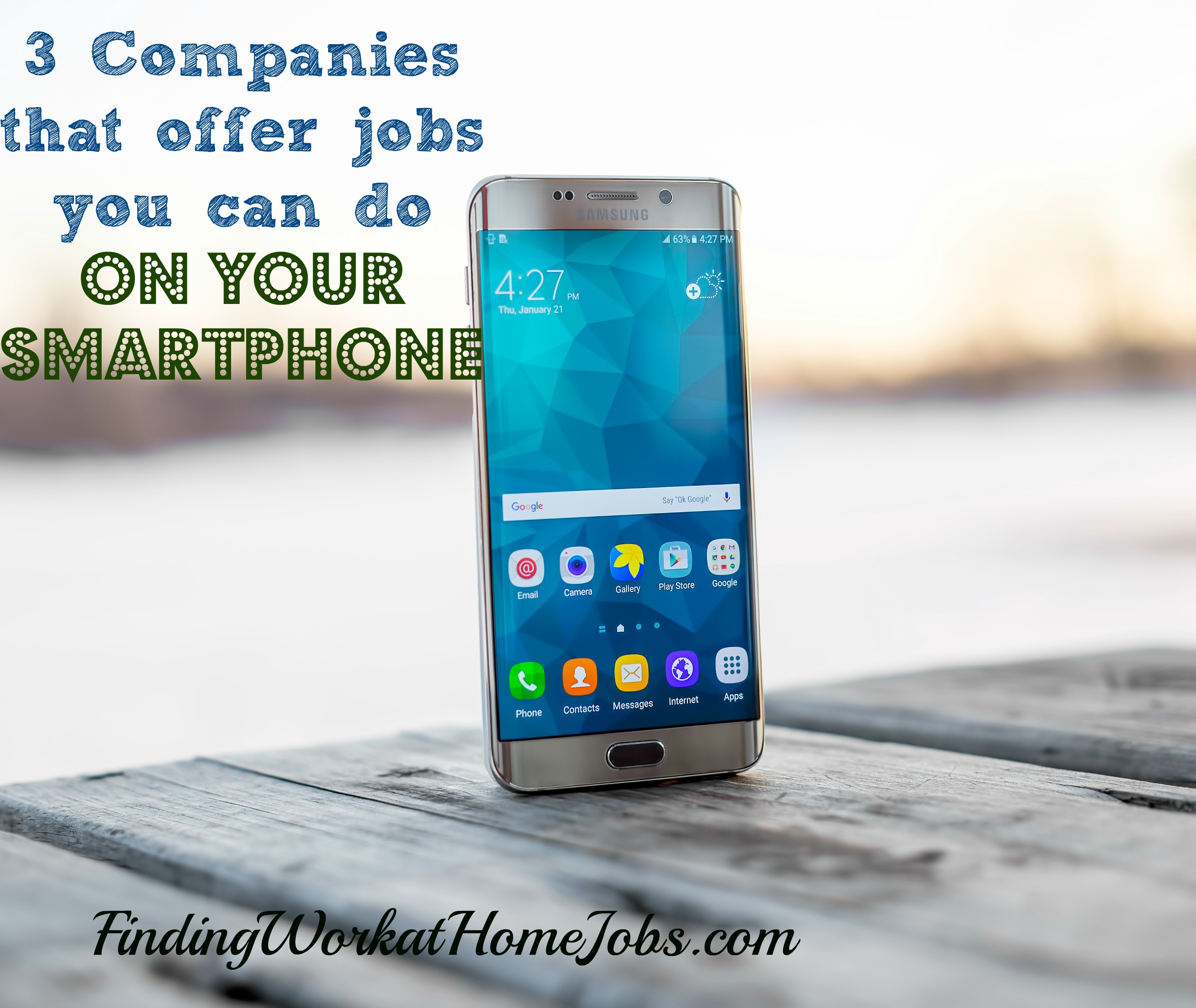3 Jobs you can do on your smartphone