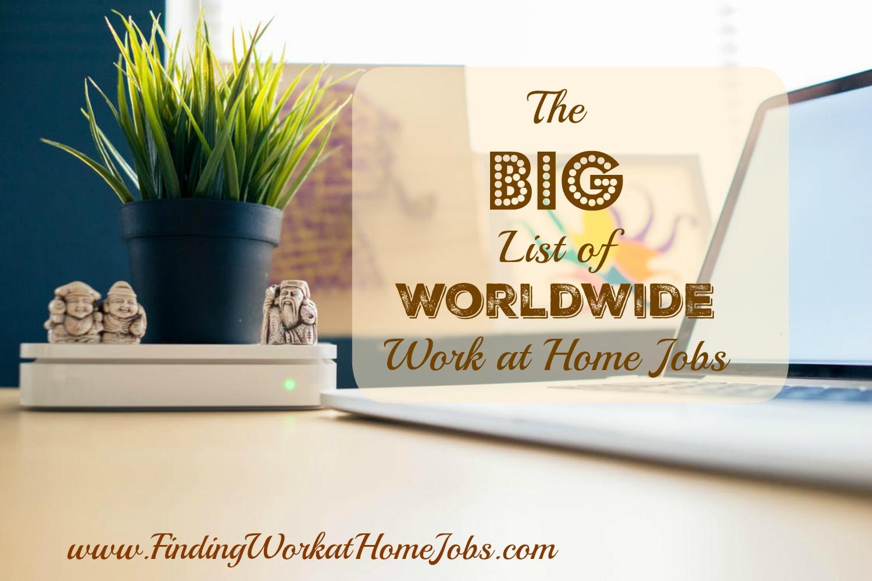 Worldwide work at home jobs