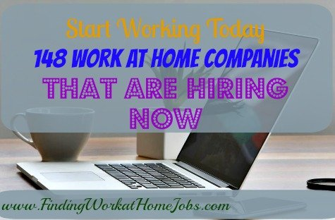 148 work at home companies that are hiring now