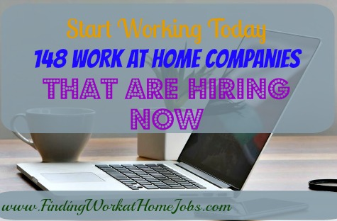 Work at home companies that are hiring!