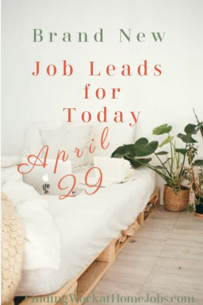 Work at home job leads