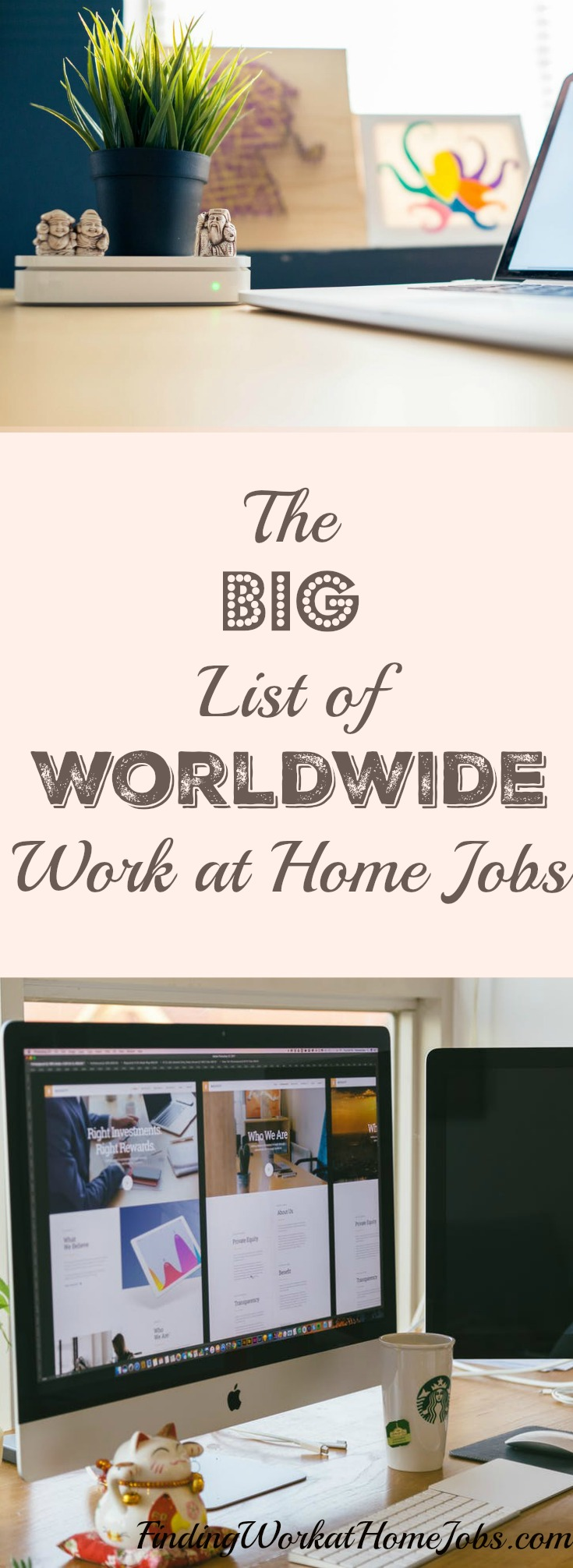 The big list of worldwide work at home jobs