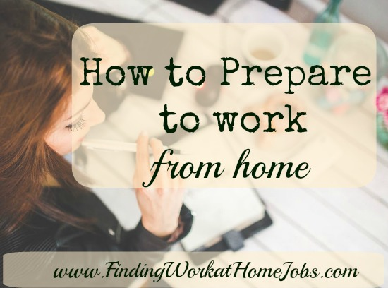 prepare to work from home