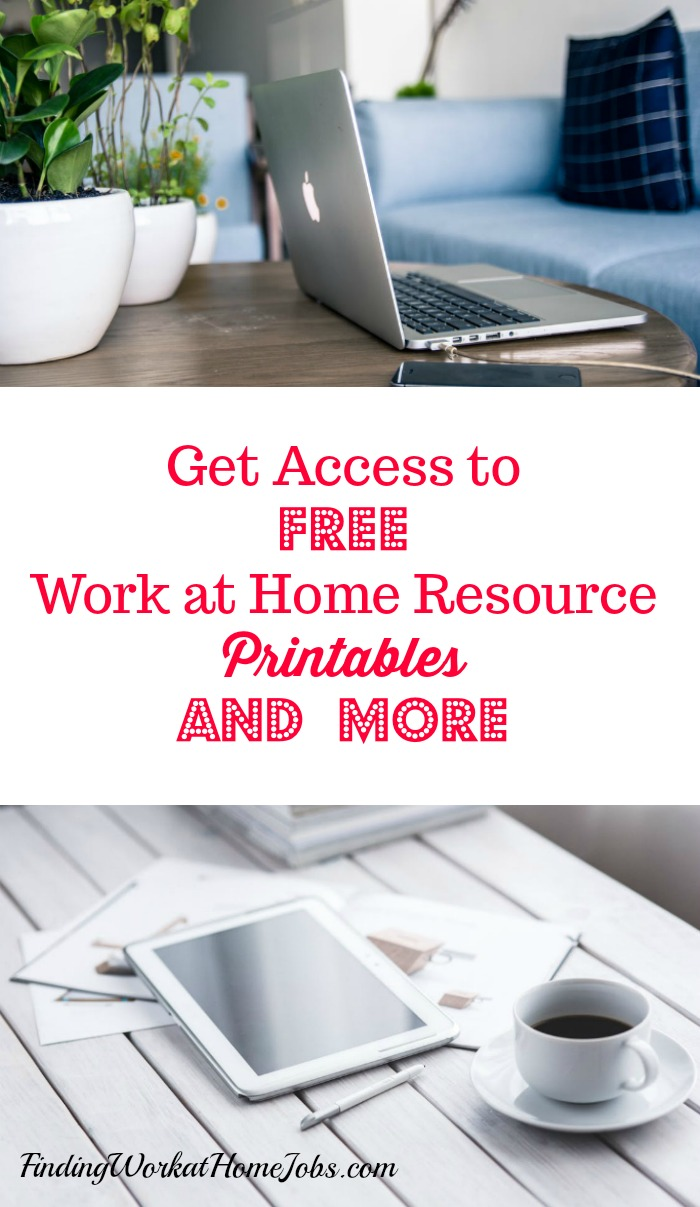 work at home resources and printables